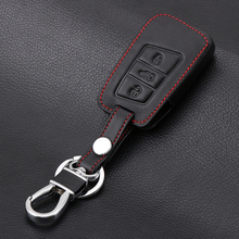 Leather key fob skin bag cover case holder for Volkswagen VW Magotan Passat B8 CC For Skoda A7 Smart Remote Protector keychain