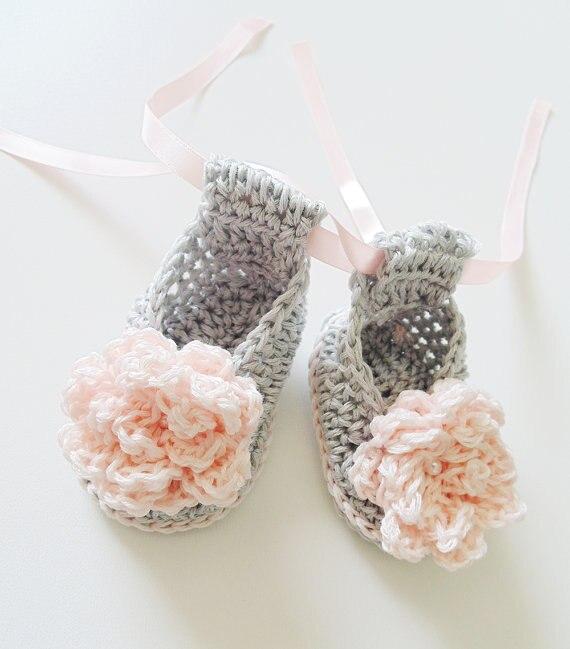 Aliexpress.com: Comprar Botines del ganchillo del bebé, zapatos del ...