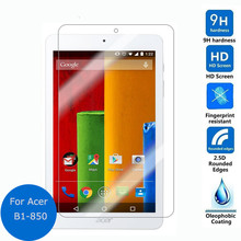 "9H Tempered Glass Screen Protector Film For Acer Iconia One 8 B1 850 B1-850 8"" Tablet + Alcohol Cloth + Dust Absorber(China)"