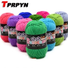 TPRPYN 1Pc=50g Soft Skin-Friendly Milk Cotton Yarn Crochet Yarn for Knitting Doll Sweater