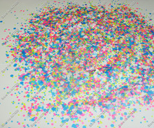 50g Neon Powder pigment  Mix Hexagon and Heart nail glitter Solvent Resistant for Nail Polish&Gel Acrylic Nail make up