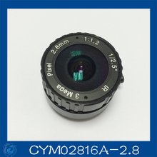 "3MP. cctv camera lens 2.8mm Fixed Iris lens, 1/2.5"" cs mount F1.2 for Security Camera, Free shipping"