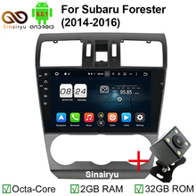 ROM 32GB 9 Inch 1024x600 Octa Core Android 6.0.1 Car DVD Player Fit Subaru Forester 2014-2016 Stereo Radio TV 4G GPS Navigation