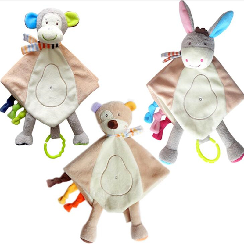 Soft Plush PP Cotton Stuffed Animal Toy Appease Baby Bed Toy Appease Towel NZ