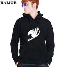 BAIJOE Men/Women's Hoodies 2017 Brand Caual Hoodies Men Fleece Fairy Tail print Warm Hoody Mens Hoody Sweatshirt Sweat Homme