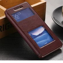 Case for Xiaomi Redmi Note 3 New PU Leather Dual Visual Windon Holder Case Cover Fundas for Xiaomi Redmi Note 3 Phone Accessory