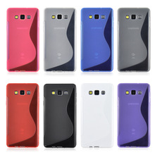 Samsung Galaxy A3 Case S LINE Silicone Phone Cover 2015 Cases A300F A300X A300H 4.5 inch Rubber Matte Bag - CSH Group Co., Ltd. store