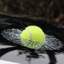 3D Car Stickers Funny Auto Car Styling Ball Hits Car Body Window Sticker Self Adhesive Baseball Tennis Decal Accessories