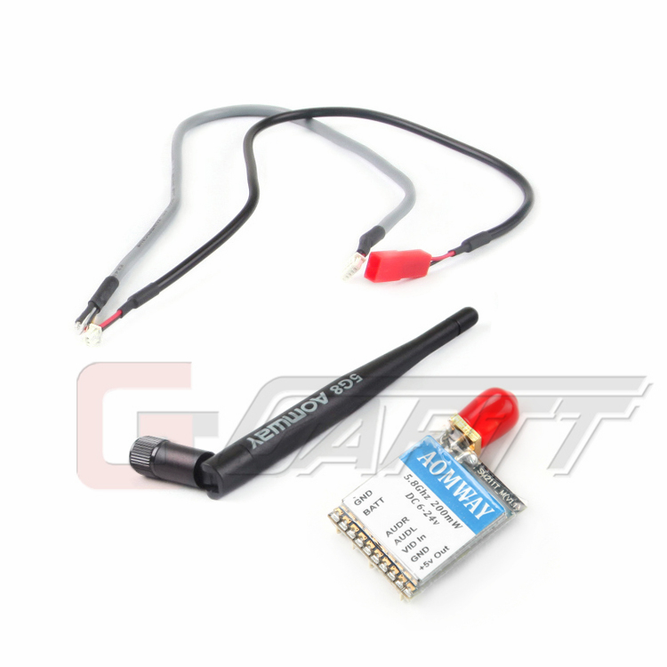 Aomway 5.8Ghz 200mW 32CH mini single launch Wireless Audio and Video Transmitter Tx for FPV<br>
