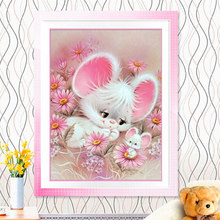 NEW 5D l Round Diamond Embroidery Cartoon Mouse Wall Decor Puzzle Diamond Painting DIY Diamond Mosaic Picture of Rhinestones(China)