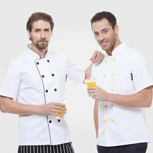 2016 NEW White Short Sleeve Hotel Best Executive Chef Coats Ladies High Quality Custom Master Chef Uniforms Jacket Free Shipping(China)
