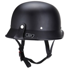 DOT style Motorcycle Half Face Black Adult German Helmet Chopper Cruiser Biker M(China)