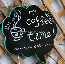 1 pcs Cartoon cloud Store POP blackboard message menu handwriting sign hanging wooden News Bulletin Drawing Board