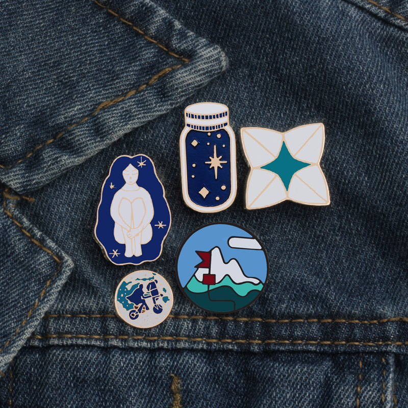 Badges 1 Pcs Cartoon Panda Elephant Metal Badge Brooch Button Pins Denim Jacket Pin Jewelry Decoration Badge For Clothes Lapel Pins Elegant Shape
