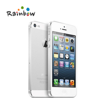 Original iPhone 5 Factory Unlocked 16GB/32GB/64GB Storage GPS WIFI Dure Core 4.0 Screen Cell Phone(China)