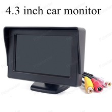 car monitor small display 4.3 inch TFT Color digital Fold-able lcd for universal vehicle reversing parking backup camera