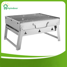 Outdoor Folding Patio Barbecue Grill Camping Garden Stainless Steel Portable BBQ Grills
