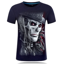 men fashion 3d printed t shirt short sleeves men tops short sleeves 6XL Wolf Skeleton 3D funny T-shirt summer plus size hot