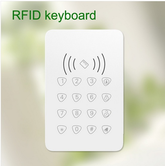 RFID Touch keypad with RFID function /door bell function /door bell function for wireless wifi gsm alarm system<br>