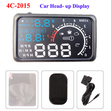 "ActiSafety ASH-4C-2015 Head Up Display Film 5.5"" HUD Windshield Projector OBD2 Cable Car HUD Head-Up Display(China)"