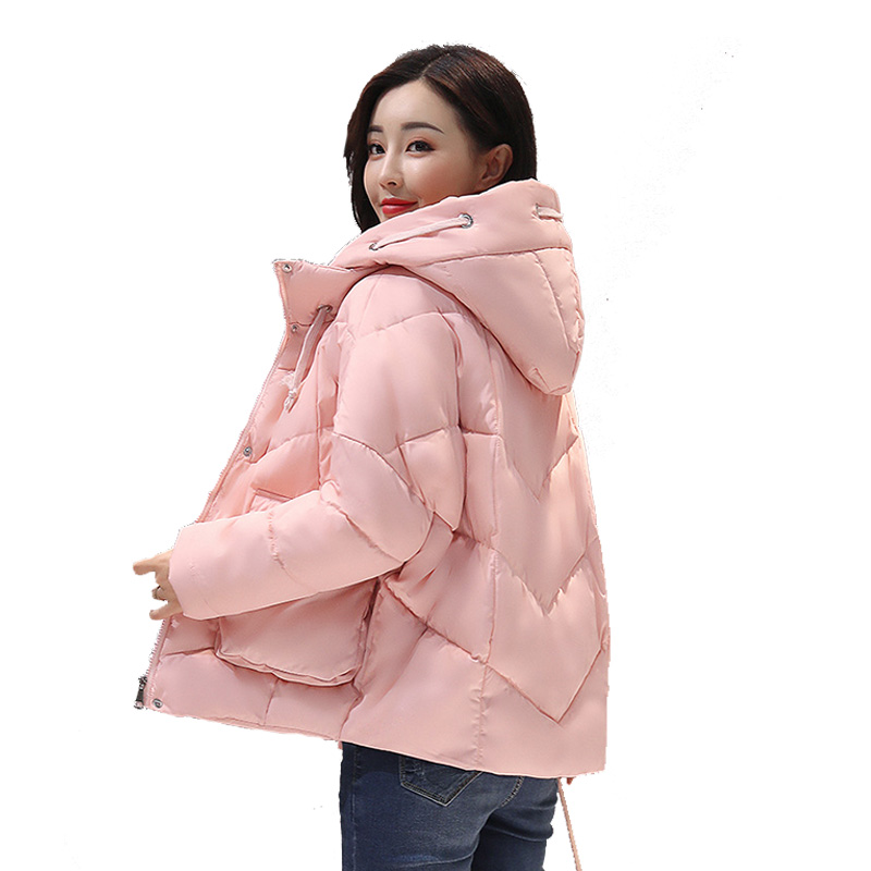Zipper Hooded Lady Winter Jacket 2017 New  Autumn And Winter Warm Jacket Solid Color Short Dress Shirt Fashion JacketÎäåæäà è àêñåññóàðû<br><br>