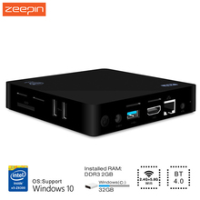 Zeepin New Z83II Z83 II TV Box 2G/32G Windows 10 64bit Intel Atom X5-Z8350 4K Mini PC XBMC 2.4G 5.8G Wifi Miracast Set Top Box