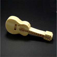 best selling items Creative Design USB Stick Wooden Guitar Memoria USB 32G 16G 8G 4G USB2.0 Flash Card Pendrive(China)
