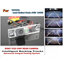 For TOYOTA Land Cruiser Prado LC 150 LC150 Smart Tracks Chip Camera / HD CCD Intelligent Dynamic Parking Car Rear View Camera(China)