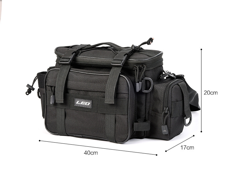 Multipurpose Waterproof 600D Canvas HandWaistShoulder Fishing Bag Men Women Outdoor Photography Fishing Bag 40x17x20cm (1)