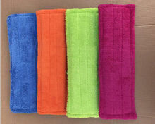 40x12cm Floor Bath Dry Cleaning Washable Mop Cloth Reusable Microfiber Pad Spray Mop Head Household Cleaning Tools(China)