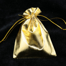 500pcs/lot Gold Plated Satin Gift Bags 7*9cm Small Wedding Jewelry Gifts Packaging Bags Favor Candy Gift Bag Free Shipping