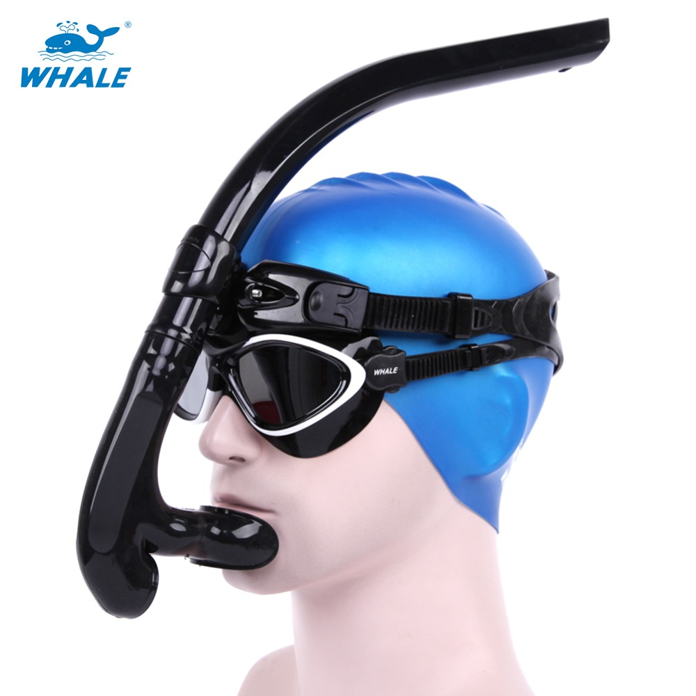 Whale Professional Snorkel Snorkeling Diving Equipment With Silicone Mouth Cleaning Valve High Quality Underwater Swimming Tool<br><br>Aliexpress