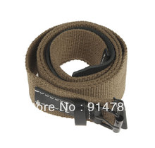 "WWII GERMAN HEER ARMY WAFFEN M44 WEB TROUSER BELT HOLE SIZE 34-40"" -33901"