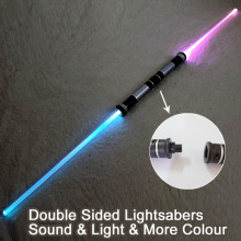 2 Pieces Star Wars Lightsaber Sound Light Sword Toy Cosplay Props Kids Double Light Saber Toy Sword for Boys Christmas Gifts