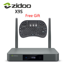 Original ZIDOO X9s TV BOX Android 6.0 + OpenWRT(NAS) Realtek RTD1295 2G/16G Set top tv box 802.11ac Media Player