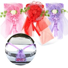 Artificial Flower DIY Wreath Wedding Car Multi Color Decoration Decorative Valentine's day Fake Flowers Rose - Home&Garden Brand Store store