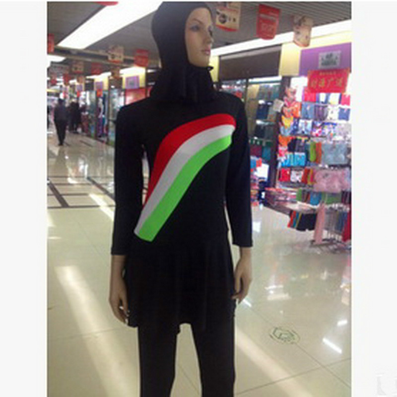 Cheap Swimwear For Muslim Women New 2017 Arab Muslim Swimwear Piece Swimsuit Conservative Swimsuit Hot Sale<br>