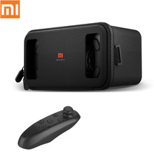 "Original Xiaomi VR BOX Virtual Reality 3D VR Glasses Google Cardboard Mi Box with Remote Controller for 4.7""-5.7"" Smartphone(China)"