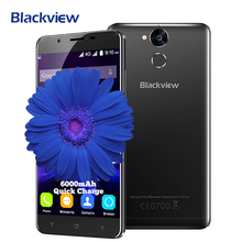 Blackview P2 6000mAh Mobile Phone Android 6.0 MTK6750T Octa-core 1.5GHz 4GB+64GB 13.0MP+8.0MP Fingerprint 5.5inch 4G Smartphone