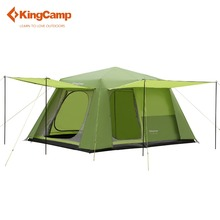 KingCamp 8-persons tent 2-rooms Family ROOMY Durable Quick-up Outdoor Tent 3-seasons camping tent 396*275*198 cm(China)