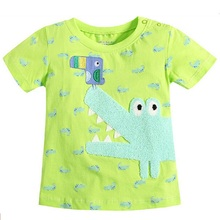 2016 new style children's clothing Hot summer boy's short-sleeved cotton round neck T-shirt animal cartoon images kids tops