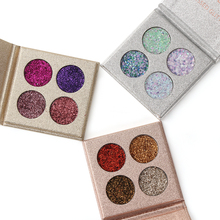 4 Colors Waterproof Glitter Eyeshadow Palette High Pigments Long Lasting Shining Shimmer Natural Women Eye Shadow Cosmetic Tools(China)