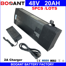 BOOANT Wholesale 5pcs/Lot Free Duty to EU US Free Shipping 48V 20AH E-Bike Battery 48V Electric Bicycle Battery 1000W 2A Charger(China)