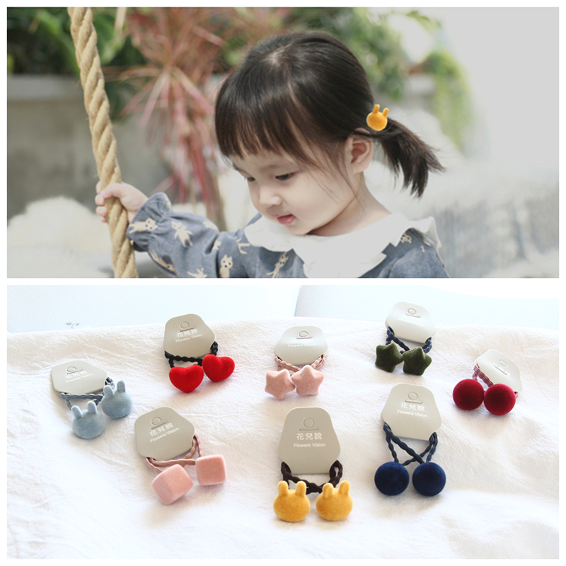 Apparel Accessories Humble 1pcs Lovely Flower Gray Ball Elastic Hair Bands Toys For Girls Handmade Bow Headband Scrunchy Kids Hair Accessories For Womens High Quality And Inexpensive Girl's Accessories