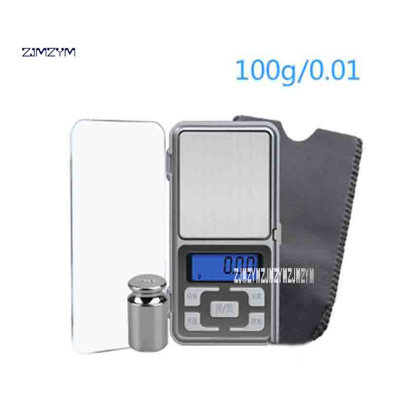 ZJMZYM New 100g 0.01g MH100g Precision Mini Pocket Electronic Scales Diomand Balance Digital Scale 100g Calibration Weight