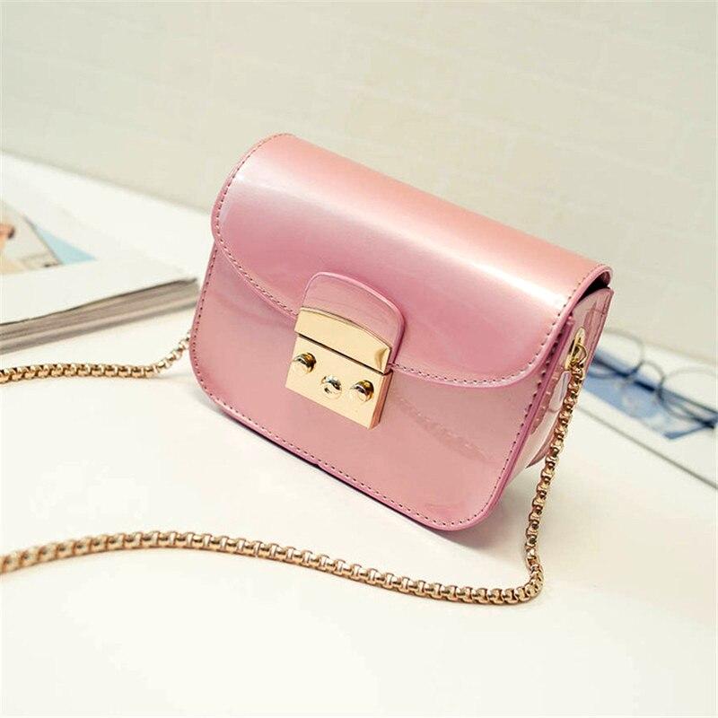 2017 Summer Fashion Furly Candy Mini Chain Bag High Quality PU Jelly Beach Bags Rivet Valentine Crossbody Bags<br><br>Aliexpress