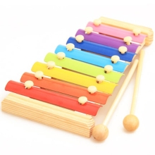 Candy colors baby piano Children's wooden toys Baby Hand Knock piano Wooden early education Xylophone Classic birthday gift D015