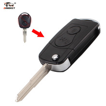 DANDKEY NEW For Ssangyong 2 BUTTON Flip Remote Key Case SHELL For Actyon SUV Kyron