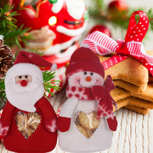 Christmas Ornaments Brand Large Stocking Velvet Santa Claus Storage Bags Red Christmas Decoration Gift Bags Hotsale(China)