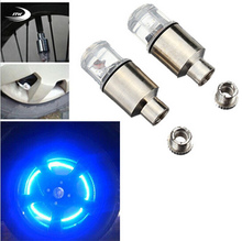 2PCS Firefly Spoke LED Wheel Valve Stem Cap Tire Motion Neon Light Lamp For Bike Bicycle Car Motorcycle(China)